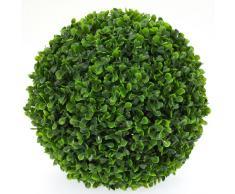 Boule de Buis Artificiel grand modèle - Plante artificielle intérieur / Extérieur - 27 cm