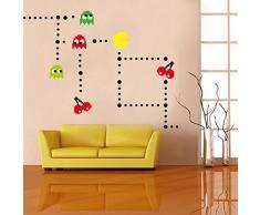 Ufengke® Dessin Animé Pac-Man Jeux Stickers Muraux, Chambre Des Enfants Pépinière Autocollants Amovibles