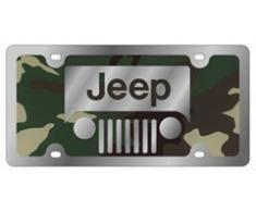Plaque d'immatriculation américaine Jeep, camouflage