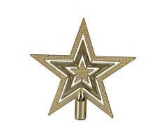 La Vogue Cimier De Sapin Noël Étoile Or Décoration De Sapin Diamètre 9,5cm