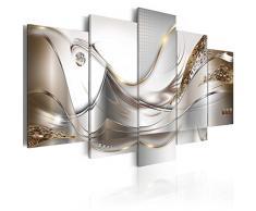B&D XXL murando Impression sur Toile intissee 200x100 cm cm 5 Parties Tableau Tableaux Decoration Murale Photo Image Artistique Photographie Graphique Abstrait Fleurs a-A-0004-b-o