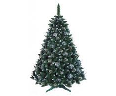 Sapin de Noël Arbre Artificiel Deluxe Fabrication de qualité Supérieure Pin enneigé avec des Cristaux - 180cm - Snow-Covered Pine