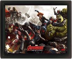 Ultron Avengers âge de : 10 x 8 Battle Poster 3D encadré-Couleur