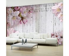 murando Papier peint intissé 350x256 cm Décoration Murale XXL Poster Tableaux Muraux Tapisserie Photo Trompe loeil fleurs bois conseils b-A-0202-a-b