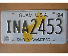 Plaque immatriculation américaine nouvelle 31 x 16 cm reproduction Guam USA Tano y Chamorro