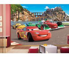 Disney Cars Panorama Papier Peint dècoration pour la Chambre dEnfants 360x254cm