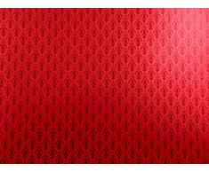 maison de poupées Miniature imprimé 1:12 Victorien Rouge En Rouge Arabesque Papier peint
