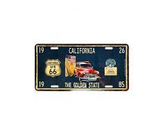 Plaque Immatriculation Américaine California - Route 66