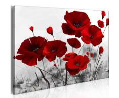 B&D XXL murando Impression sur Toile intissee 100x70cm 1 Piece Tableau Tableaux Decoration Murale Photo Image Artistique Photographie Graphique Fleurs 0107-12