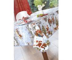 Calitex Père Noel Nappe PVC Rouge 300 x 140 cm