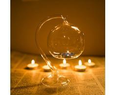 Boule en Verre 10 Pack Black DOOLLAND Bougeoir en Fer /à Suspendre Support de d/écoration de Mariage Pot de Fleurs