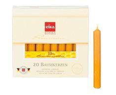 Eika Lot de 20 Bougies de 10% cire d'abeille Carillon de Noël Arbre de Noël / ange Pyramide Haute 10,5 cm, Ø 1,25 cm Fabriqué en Allemagne