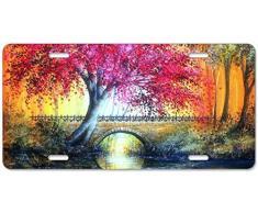 Dom576son Plaque d'immatriculation en Aluminium, Cadre Fin Fin et Fin pour Voiture américaine 15,2 x 30,5 cm