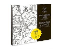 OMY Poster géant à colorier de Paris format encadrable (70 x 100 cm)