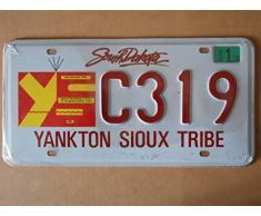 Plaque immatriculation américaine nouvelle 31 x 16 cm reproduction South Dakota Sioux