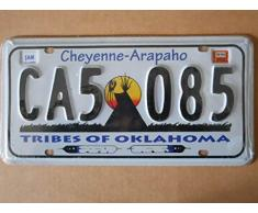 Plaque immatriculation américaine nouvelle 31 x 16 cm reproduction Oklahoma Cheyenne Arapaho
