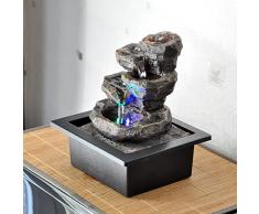 Zen'Light Fontaine Galou Résine, Gris, 21 x 17 x 23 cm