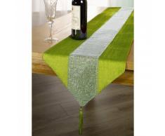 Chemin de table à strass (33cm x 183cm) (Vert)