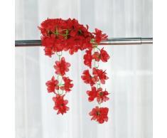Plante Grimpante de l'Azalée Artificielle pour la Décoration de Jardin, d'Accueil et de Mariage - Rouge
