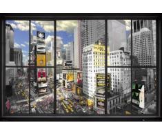 1art1 60226 New York Poster Fenêtre sur Times Square 91 x 61 cm