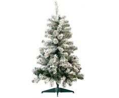 Sapin de Noël style enneigé 120 cm, 199 branches
