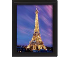 Up Close Poster en 3D Paris, Tour Eiffel au crépuscule (25,4cm x 20,3cm)