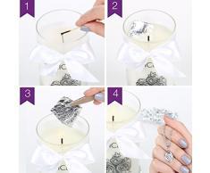 JewelCandle Cuddle Candle - Bougie Parfumée avec Bijou Surprise en Argent (Collier)