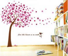 Walplus Sticker mural Fleurs de cerisier Transparent