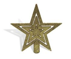 Urban Design Cimier de Sapin de Noël en Forme détoile de Sapin de Noël avec étoile pailletée Doré