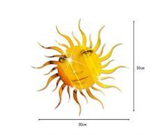 Ufengke® 3D Motif Soleil Effet De Miroir Stickers Muraux Design À La Mode Art De Décalque Décoration De La Maison D'or