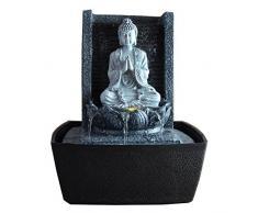 Zen'Light SCFRB1 Fontaine d'Intérieur Mur Bouddha Prière Gris Foncé/Noir 20 x 15 x 26 cm