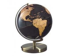 Mascagni Globe terrestre Globe cuivre sur fond noir D 30 cm lumineux lumière