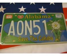 Plaque immatriculation américaine Alabama Save the cahaba