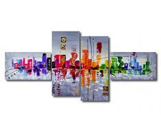 bestpricepictures 160 x 70 cm Impression sur Toile Abstrait 6515-SCT Peinture/Image/Tableau/Decoration sur châssis