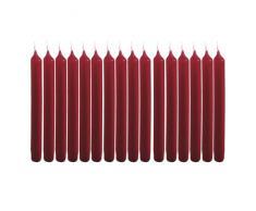 Brubaker Lot de 20 bougies motif arbre de Noël Fabriquées en Allemagne Rouge