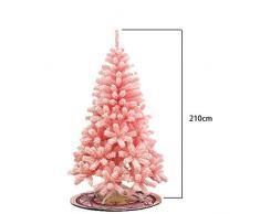 Kmgjc Sapin de Noël 210 cm, Arbre floqué Rose de Noël, Arbre de scène de décorations de Noël (Couleur : Pink, Taille : 210cm)