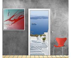 sticker pour porte acheter stickers pour porte en ligne sur livingo. Black Bedroom Furniture Sets. Home Design Ideas