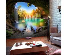 decomonkey | Papier peint intissé Cascade Chute deau 350x256 cm Trompe l oeil | Déco Mural Tableaux Muraux Photo Nature Paysage