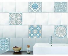 Plage 260537Smooth–Tiles Stickers pour carrelage azulejos 6décoratifs, vinyle, gris, 15x 0,1x 15cm
