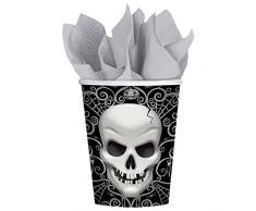 8 gobelets Fright Night 8 x 0,25 l - timbales Halloween - déco de table - décoration d'Halloween - gobelets jetables
