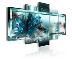 murando - Impression sur toile - 200x100 cm cm - 5 pieces - Image sur toile - Images - Photo - Tableau - motif Moderne - Décoration - tendu sur chassis - Fleurs abstraction abstrait b-C-0153-b-n