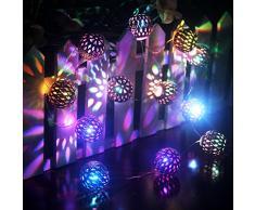 LED String intérieur /extérieur,Ryham batterie Operated 4.9ft 12LED or Guirlande lumineuse Boule rideau éclairage --- mariage Idéal, Arbre de Noël, Halloween, Fête, Chambre (changement de couleur)