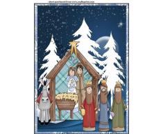 Crèche de Noël Cimier de sapin de Noël par Sharon Poore