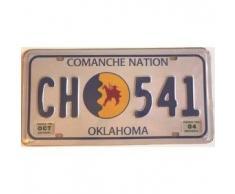 Plaque immatriculation américaine Oklahoma Comanche Nation