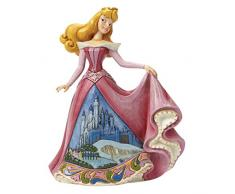 Disney Traditionsitions Figurine Aurore en Robe avec son château