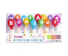 ScrapCooking 5005 Bougies - Bon Anniversaire Paraffine, Multicolore, 15 x 8,5 x 2,5 cm