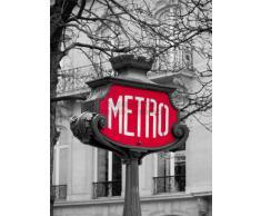 PHOTOGRAPHY LANDMARK COMPOSITION RETRO METRO SIGN PARIS FRANCE ART POSTER AFFICHE PRINT BMP10840