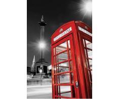 1art1 49214 Poster Londres Cabine Téléphonique Rouge Trafalgar Square 91 x 61 cm