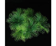 6cm Plante Artificielle Ornement en Plastique pour Aquarium -Vert