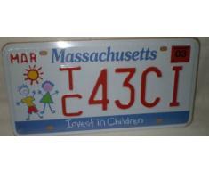 Plaque immatriculation américaine Massachusetts